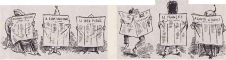 Карикатуры Жюля Ренара в «Charivari», 1873 г.