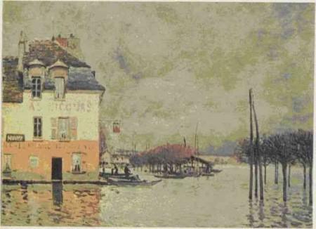 А. Сислей. Наводнение в Пор-Марли. 1876