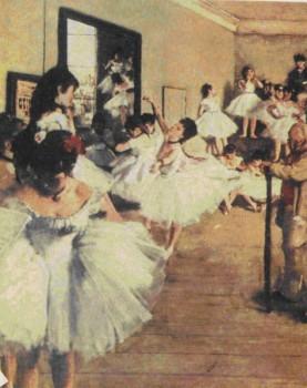 Э. Дега. Балетный класс. Деталь. 1875
