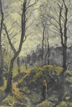 К. Писсарро. Пейзаж с большими деревьями. 1875