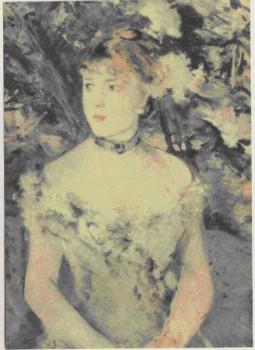 Б. Моризо. Молодая женщина в бальном платье. 1880г.