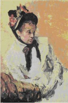 На картинке изображена картина Мери Кассатт. Автопортрет 1878